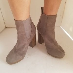 Forever 21 Suede boots gray tall boot